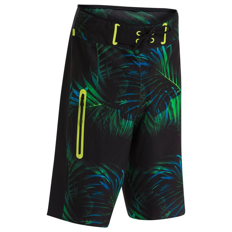Swim shorts/boardshort 900 - Black green