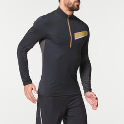 MAILLOT MANCHES LONGUES TRAIL RUNNING HOMME NOIR BRONZE