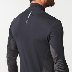 Trailshirt met lange mouwen voor heren zwart/brons