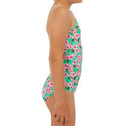 Fato de banho de Surf HANALEI 100 Menina Menta