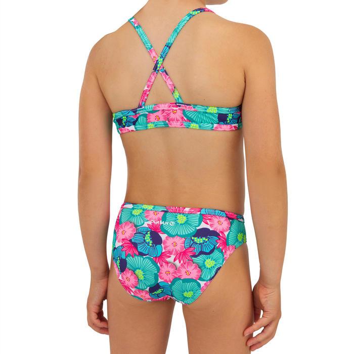 Bikini meisje met high neck top Boni 100 turkoois