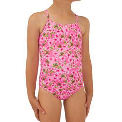 Badeanzug Surfen Hanalei 100 Sakura Mädchen neonrosa