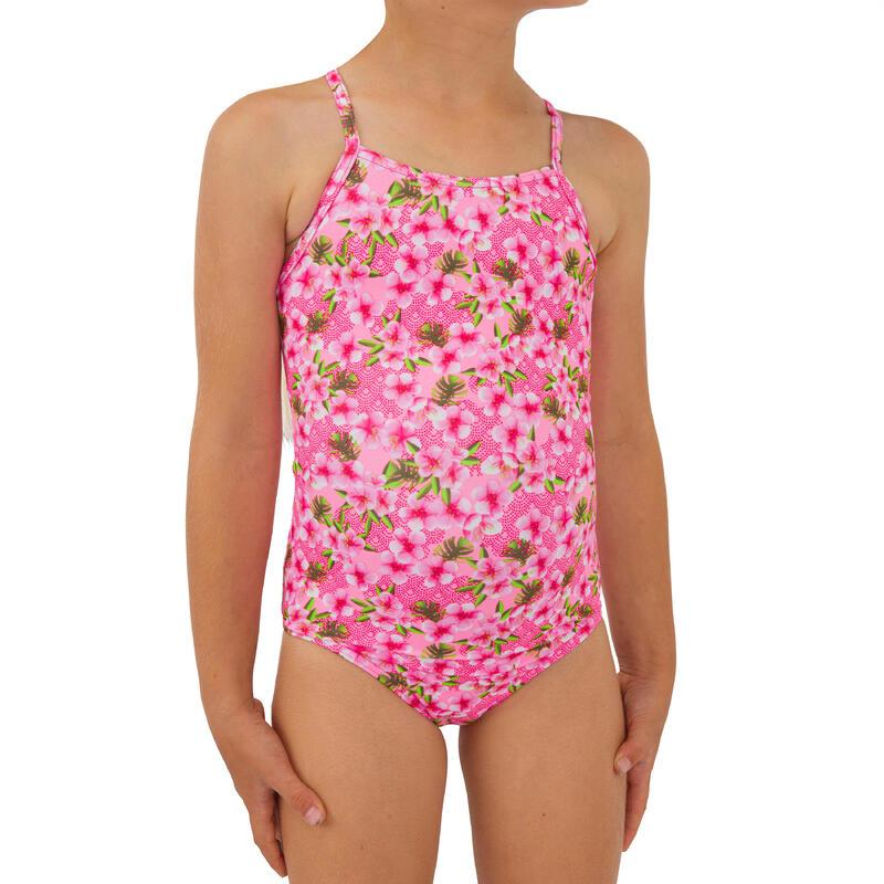 Badpak voor surfen meisjes Hanalei 100 fluoroze