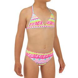 Bikini de Surf Triângulo TINA 100 Menina Rosa