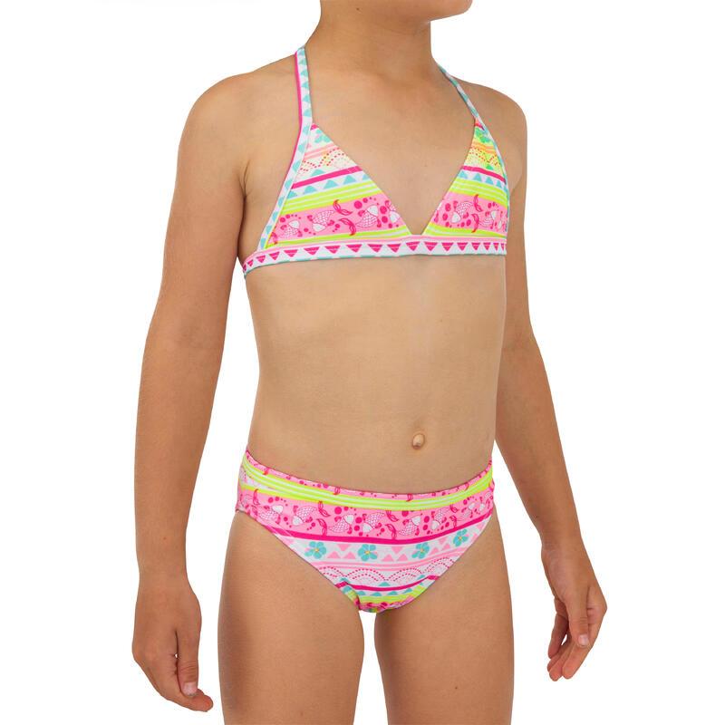Meisjes bikini (4-8 jaar) Tina 100 triangeltop roze