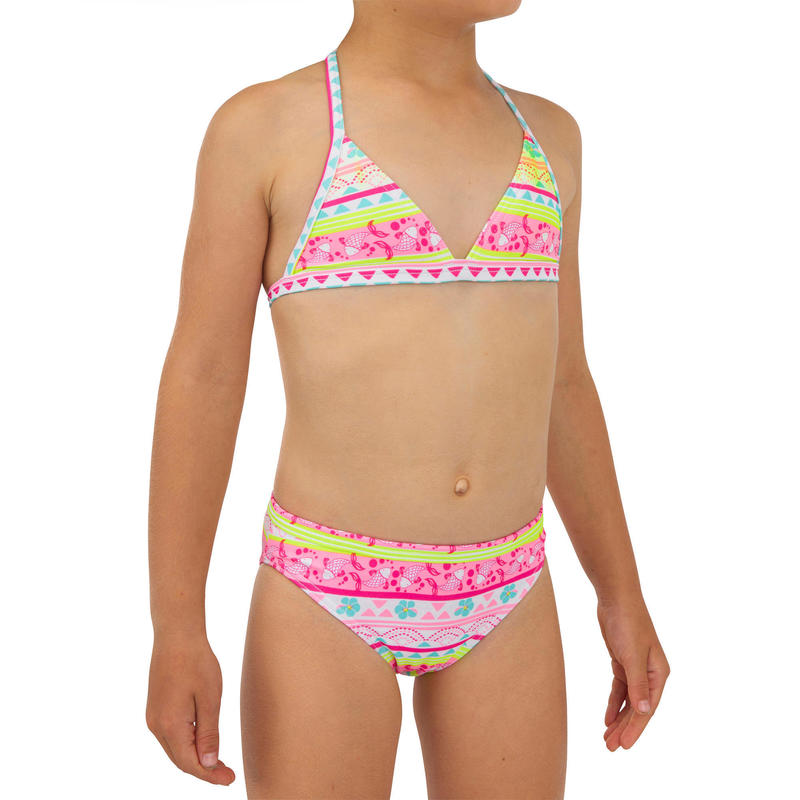 Two-piece TRIANGLE swimsuit TINA 100 - PINK