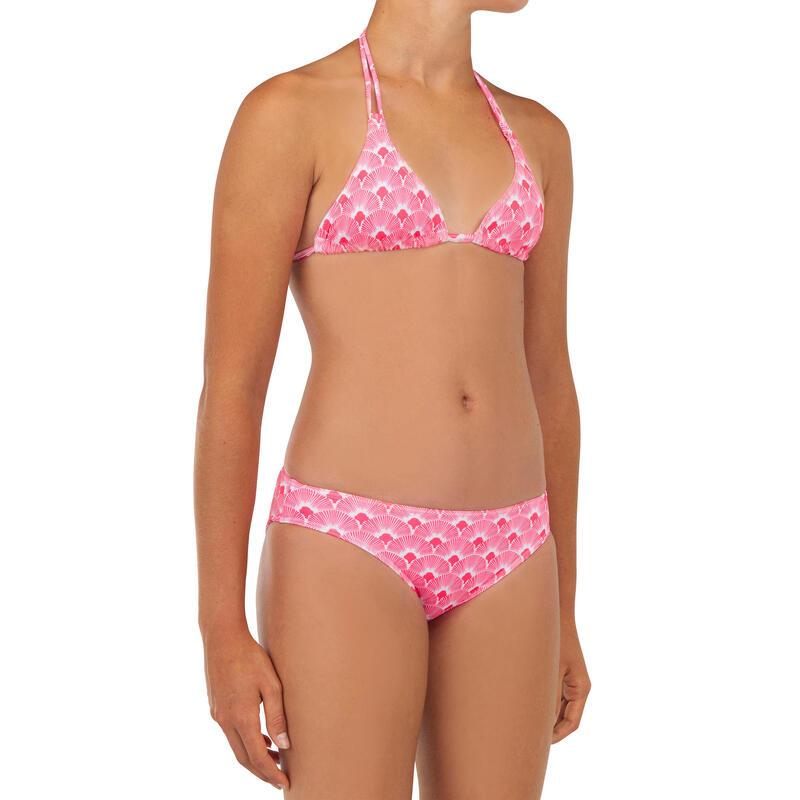 Bikini Niña Surf Olaian Taloo 100 Rosa Pastel