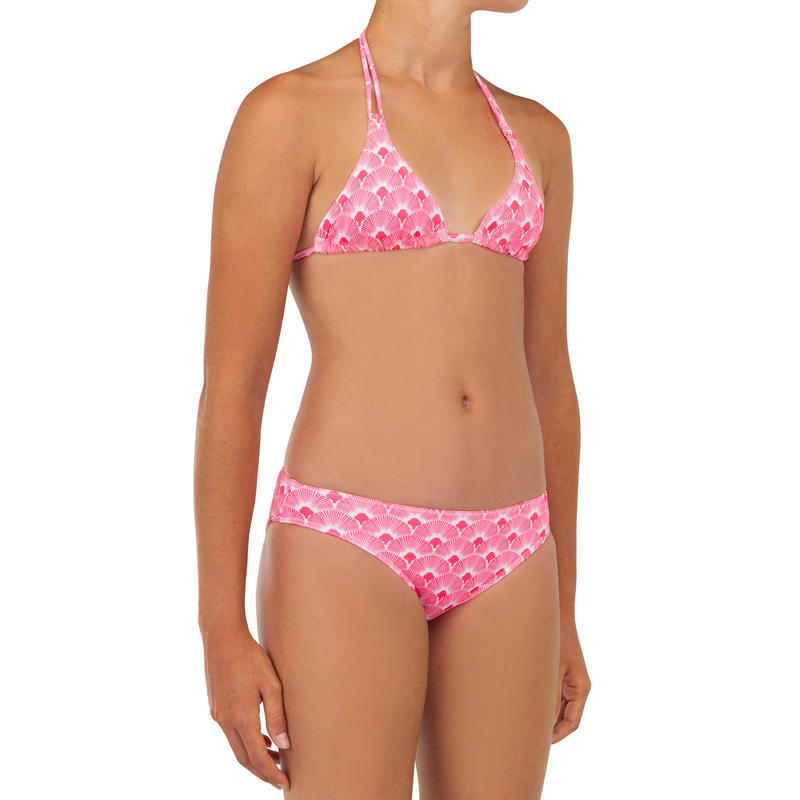Two-piece swimsuit TALOO 100 - PASTEL PINK