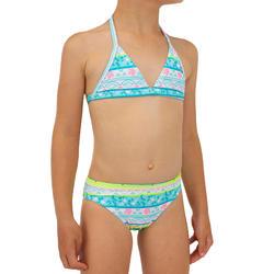 Bikini de Surf Triângulo TINA 100 Menina Turquesa