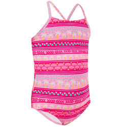 Badeanzug Surfen Hanalei 100 Ena Mädchen rosa