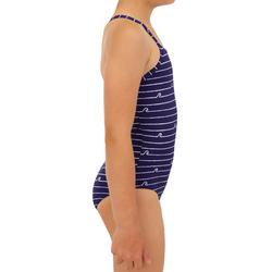 Badeanzug Surfen Hanalei 100 Asahi Mädchen violett