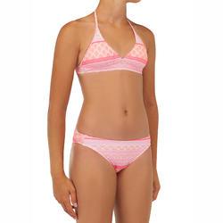 Bikini voor meisjes haltertop Tami 100 koraalrood