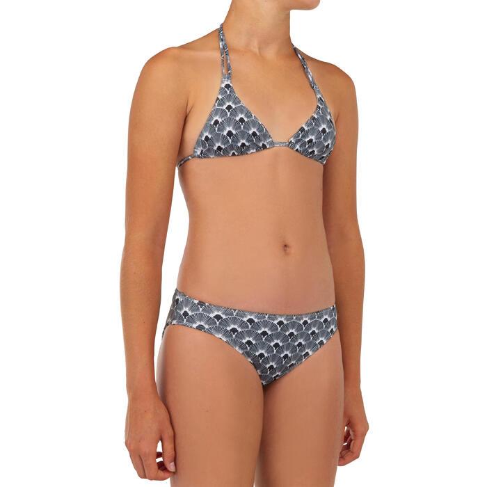 Bikini de Surf TALOO 100 Preto Menina