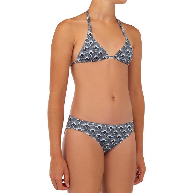 Bikini voor surfen meisjes Taloo 100 zwart