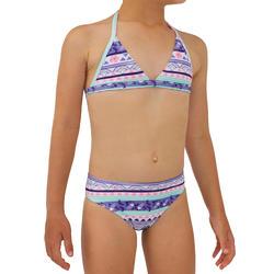 Surfbikini met triangeltop meisjes Tina 100 paars