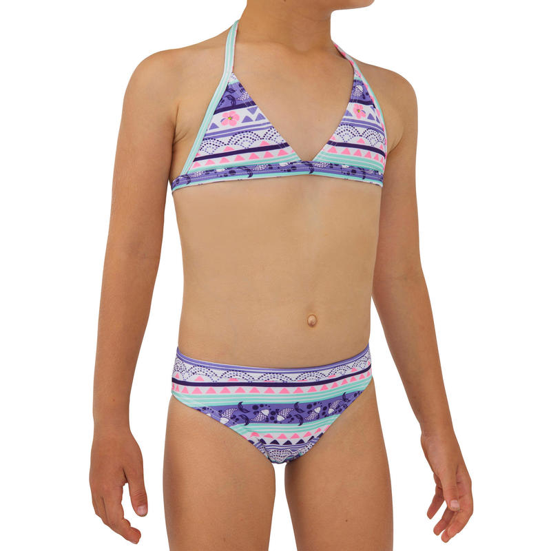 Two-piece TRIANGLE swimsuit TINA 100 PURPLE