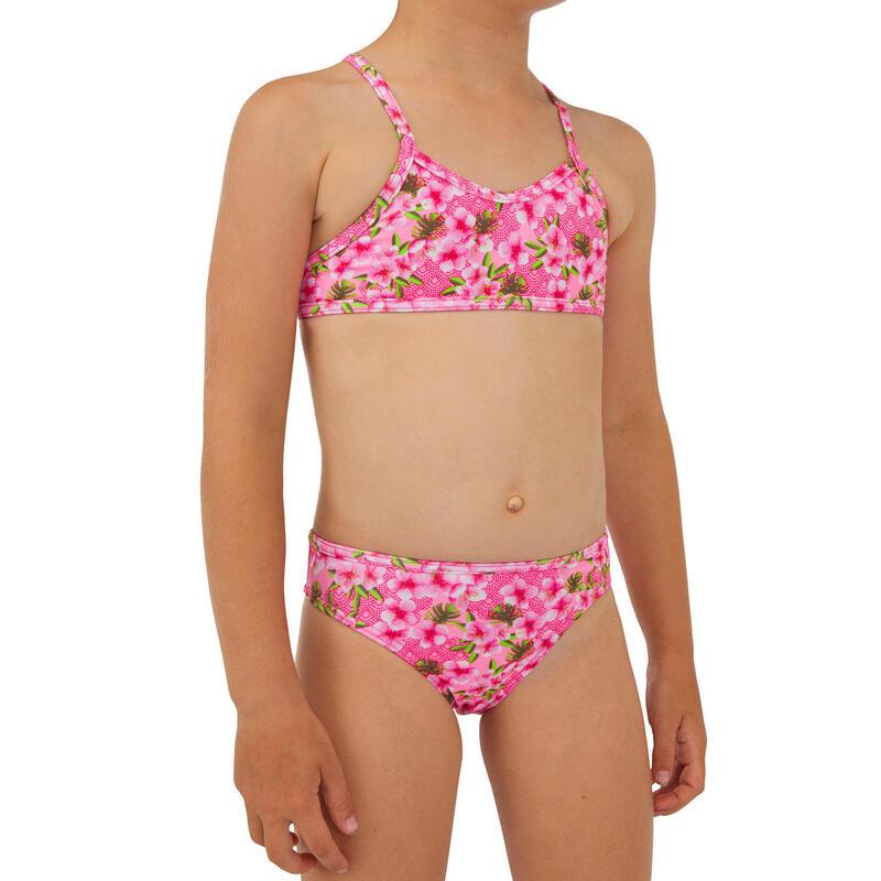 Bikini Niña Surf Olaian Boni 100 Rosa