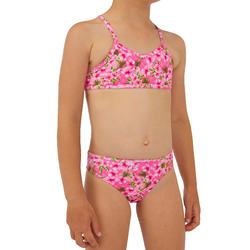 Bikini voor surfen meisjes Boni 100 topje zonder sluiting en broekje roze
