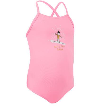 One-piece swimsuit HANALEI 100 - PASTEL PINK