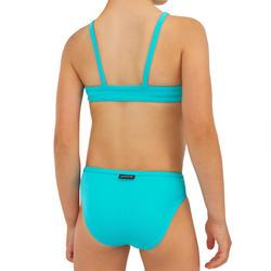 maillot de bain 2 pièces SURF FILLE BRASSIERE TURQUOISE BALI 100