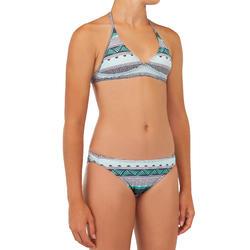 Bikini voor surfen meisjes Tami 100 haltertop en broekje zwart