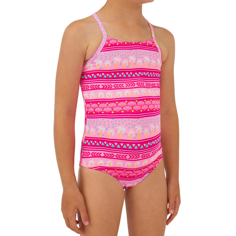 Badpak voor surfen meisjes Hanalei 100 roze