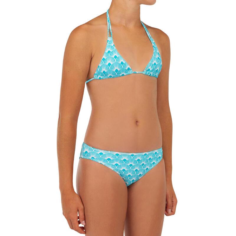 Bikini voor surfen meisjes Taloo 100 turquoise