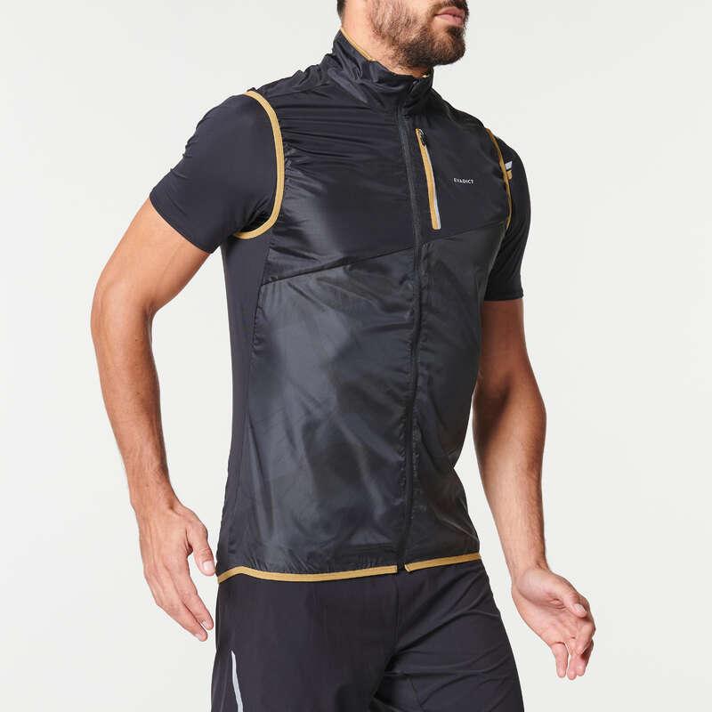 ERKEK ARAZİ KOŞUSU GİYİM Koşu - ERKEK GRİ KOLSUZ RÜZGARLIK EVADICT - Erkek Koşu Kıyafetleri