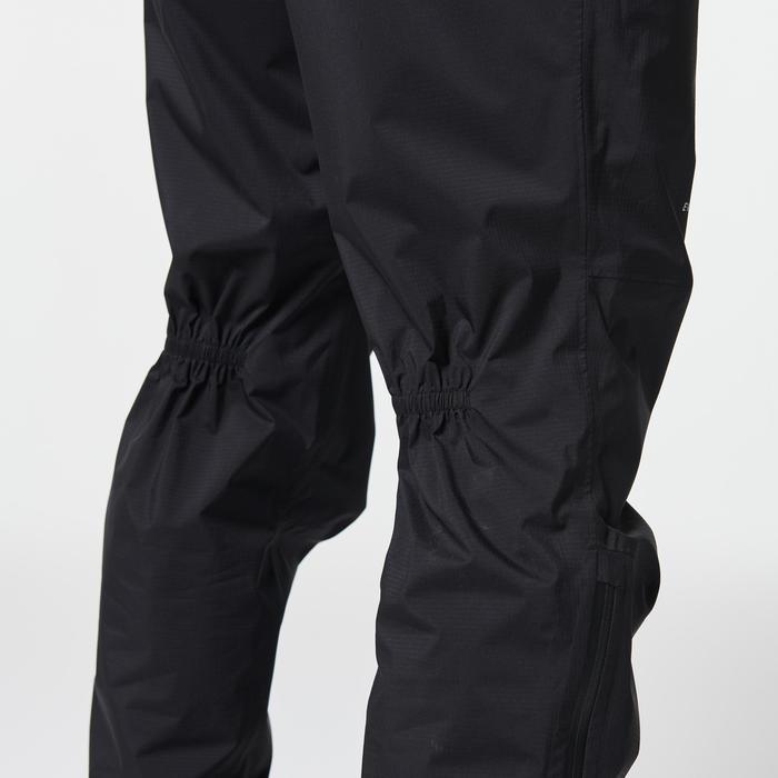 Pantalon de pluie imperméable trail running homme noir