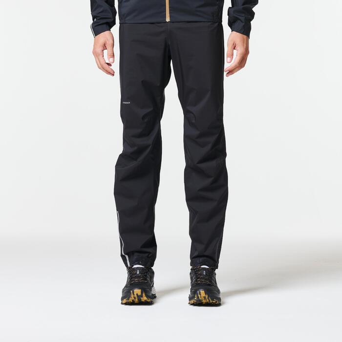 Pantalon imperméable trail running homme noir