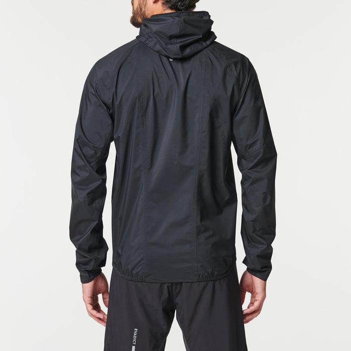 男款越野跑防水外套 - 黑色配古銅色