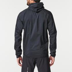 Regenjack voor trail heren zwart/brons