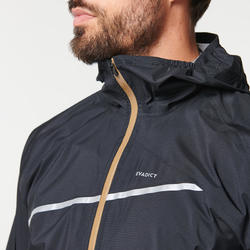 MEN'S TRAIL RUNNING WATERPROOF JACKET - BLACK/BRONZE