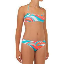 Bikini de Surf LILOO 100 Menina Azul