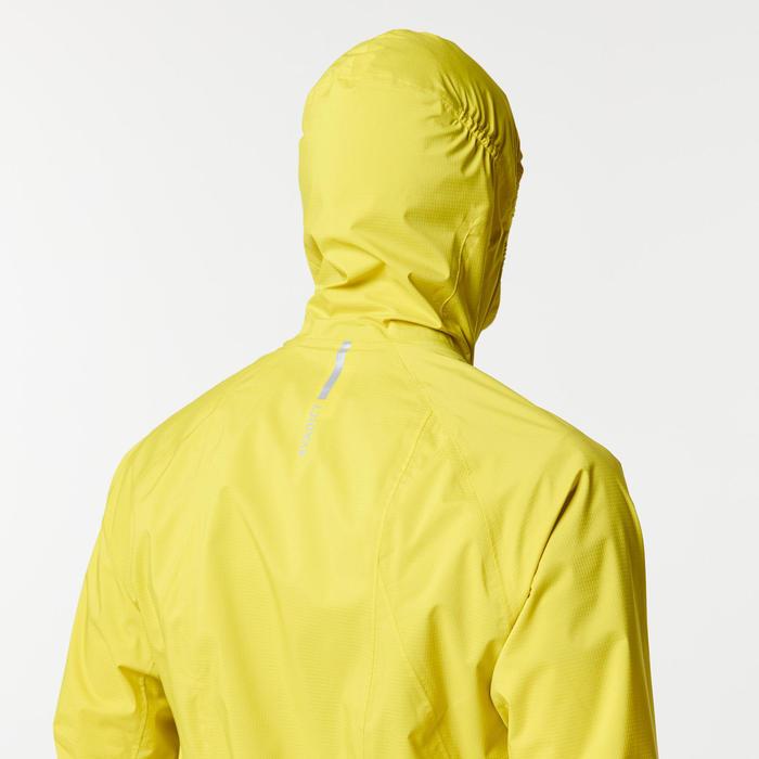 Regenjack voor trail heren groen/geel