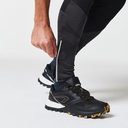 Collant trail running homme noir et gris