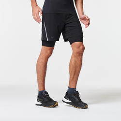 MEN'S COMFORT TRAIL RUNNING TIGHT SHORTS - BLACK