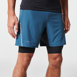 MEN'S COMFORT TRAIL RUNNING TIGHT SHORTS - GREY