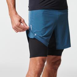 Trailshort met binnenbroek voor heren Comfort grijs