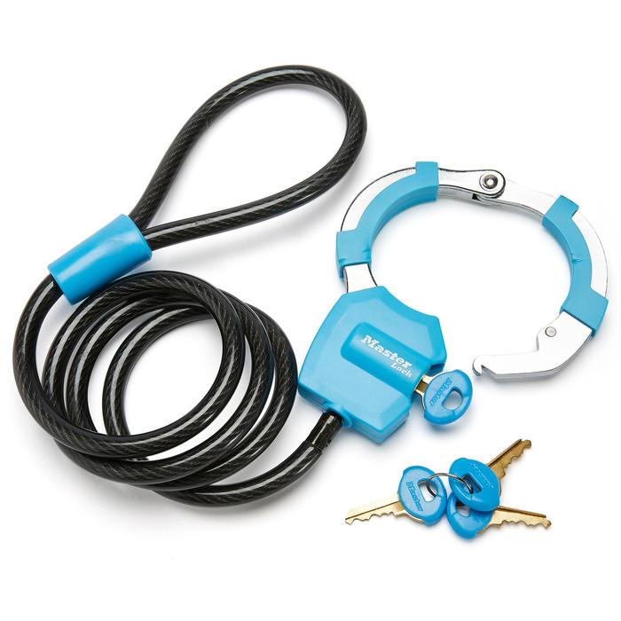 Masterlock antivol-menottes trottinette bleu