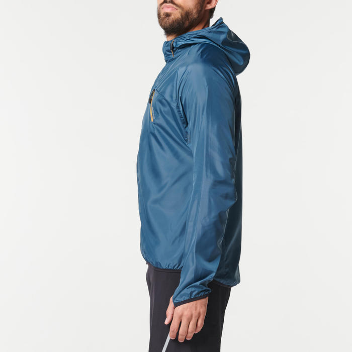 Veste coupe-vent trail running homme gris