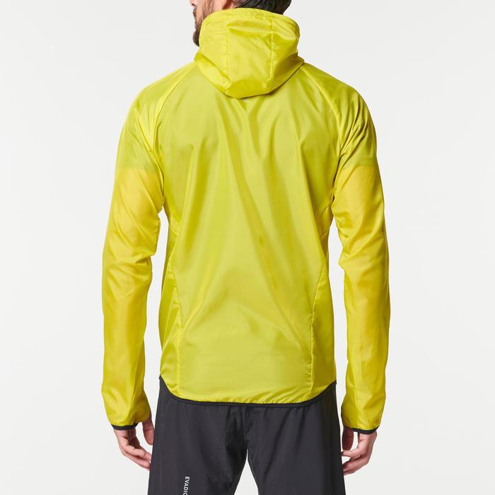 Windjack voor trail heren groen/geel