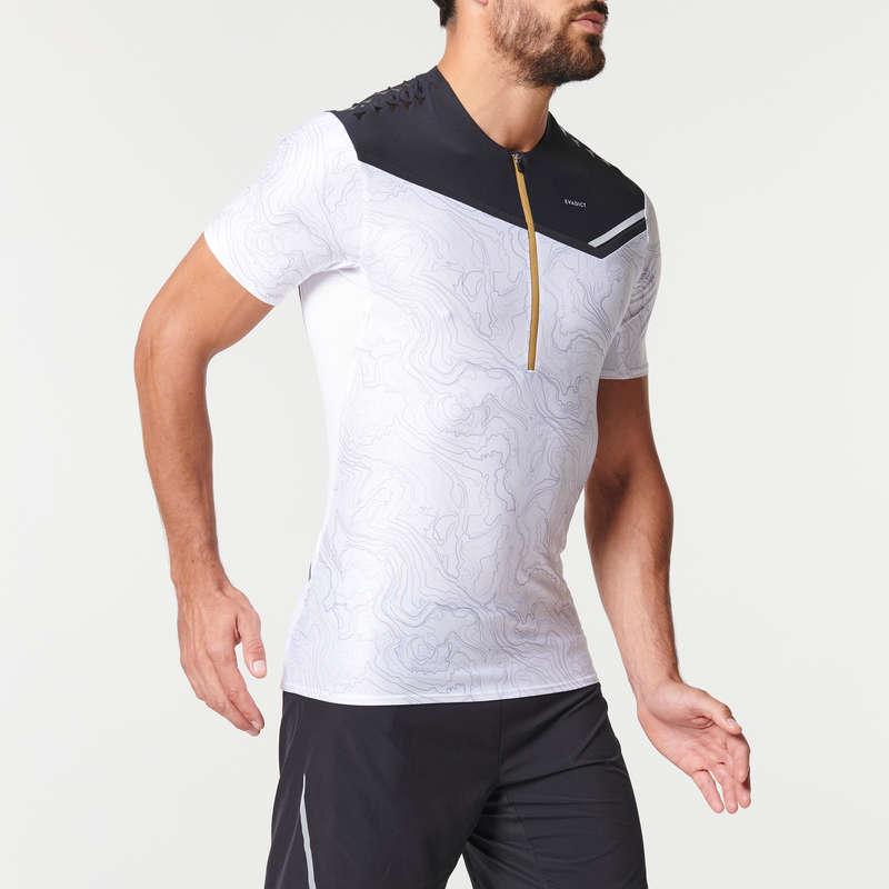ERKEK ARAZİ KOŞUSU GİYİM Koşu - ARAZİ KOŞU TİŞÖRTÜ SİYAH BEYAZ EVADICT - Erkek Koşu Kıyafetleri