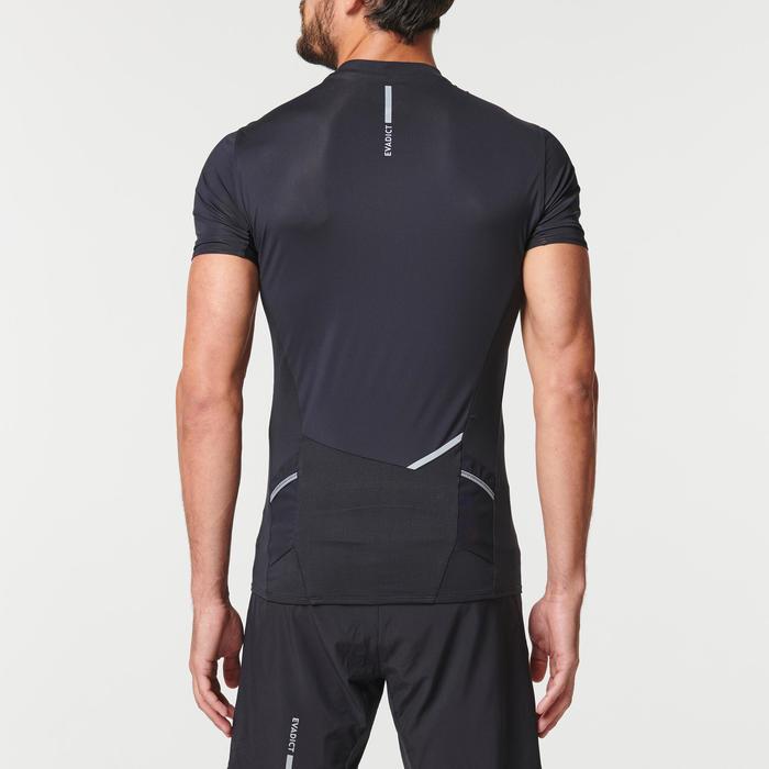 Trailshirt met korte mouwen voor heren zwart