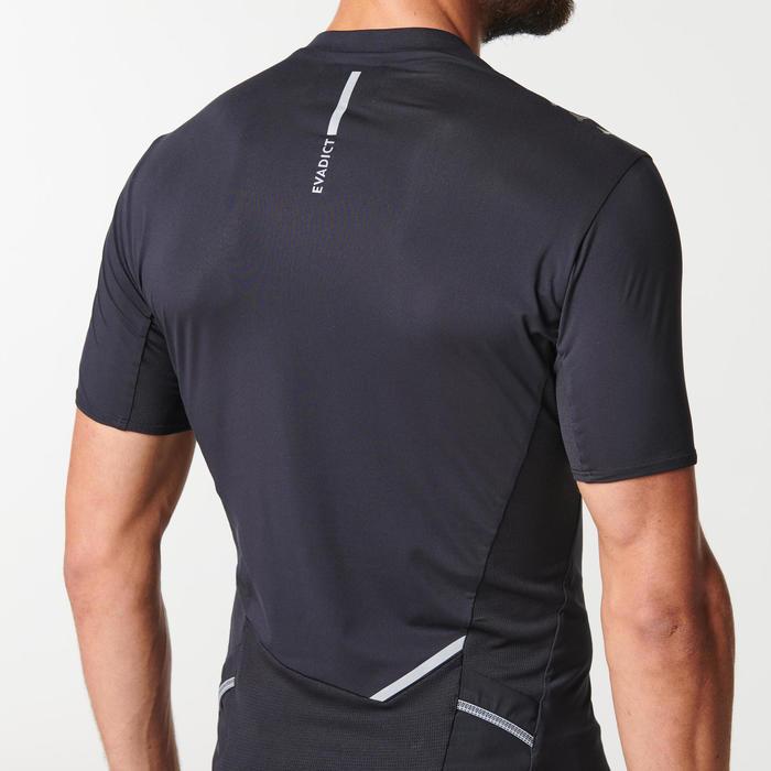 Camiseta Manga Corta Trail Running Negro Hombre