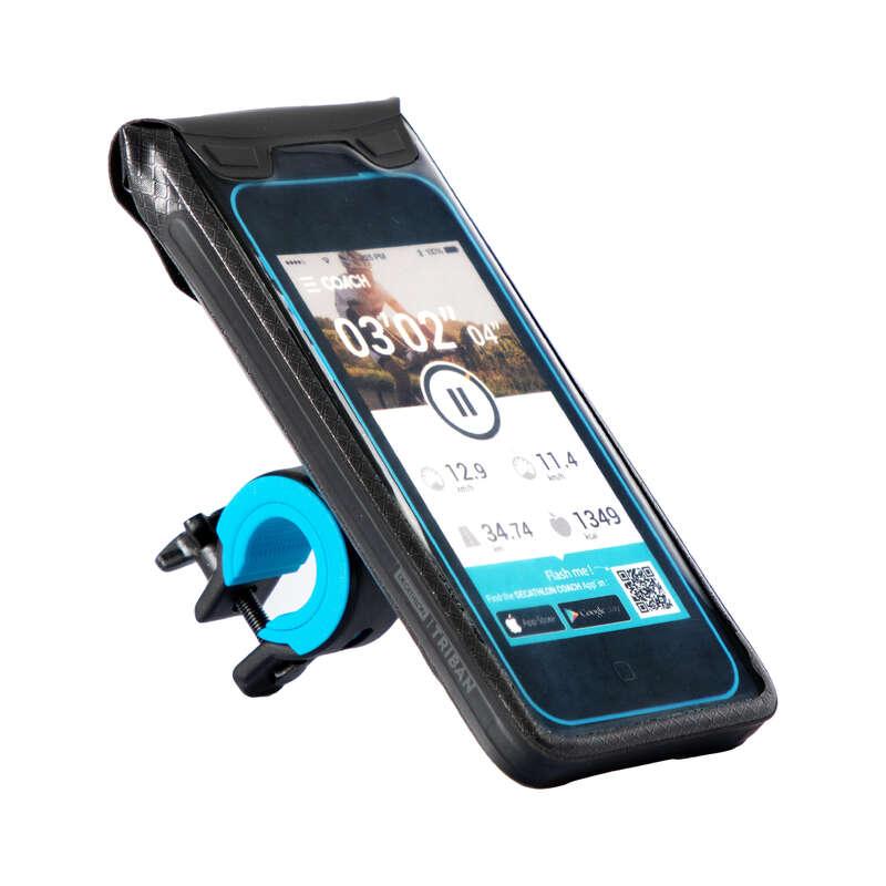 HÅLLARE FÖR SMARTPHONE TILL CYKEL Elektronik - Smartphonehållare 900 L TRIBAN - Kommunikation