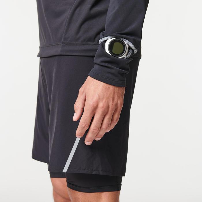 Softshell shirt met lange mouwen voor trail heren zwart/brons