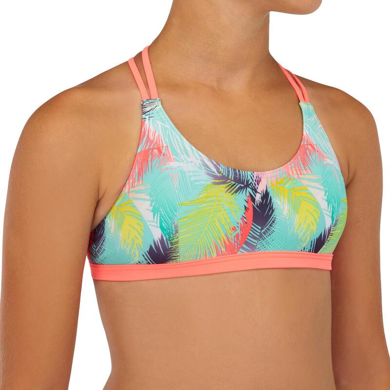 Bikinitop voor meisjes Bondi 500 triangel turquoise