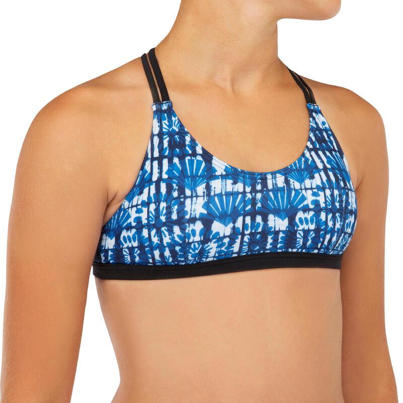 Bikinitop voor meisjes Bondi 500 blauw