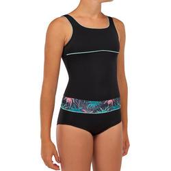 GIRL'S SURF SWIMSUIT RIO 500 - BLACK